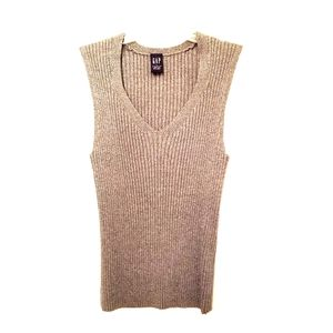 Gap sleeveless sweater vest size large ribbed knit